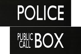 Tardis Halloween Stencil by Tardis Sign Fabric Split Police Public Call Box For Doctor