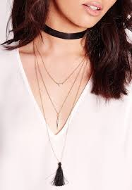 multi layered black necklace images Stunning casual look gold or silver multi layered necklace style jpg