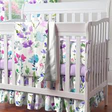 Lavender And Grey Crib Bedding Mini Crib Bedding Portable Crib Bedding Sets Carousel Designs
