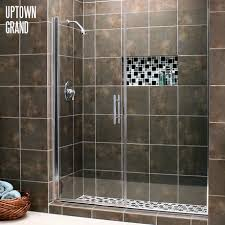 Houston Shower Doors Uptown Grand Series With Chrome Hardware And Clear Glass Shower
