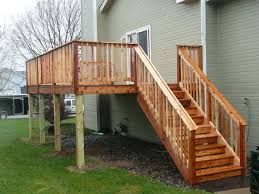 wooden stairs design outdoor