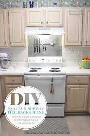 Faux Subway Tile Painted Backsplash Tutorial - Tile backsplash diy