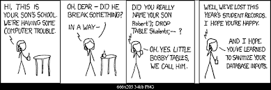 Bobby Tables Xkcd Best Xkcd Ever
