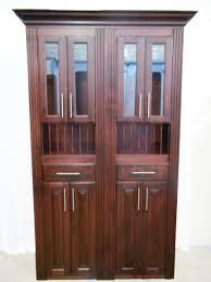 Cherry Wood Bookcase With Doors 4 U0027 Custom Murphy Door With Optional Upper Glass Doors Plate Rack
