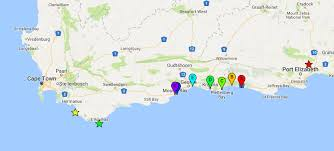 j bay south africa map best sights on the garden route 10 must see stops on south