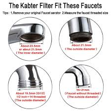 kabter healthy faucet water filter system for bathroom and kitchen