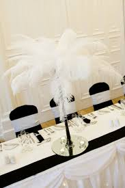 Wedding Feathers Centerpieces by Tall Black Flute Vase With White Feathers Wedding Http Www