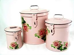 vintage canisters for kitchen amazon com retro vintage canister set kitchen storage