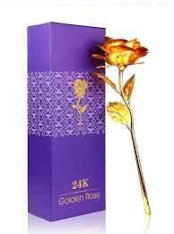 gift set homesogood 24k gold with gift box artificial flower gift set