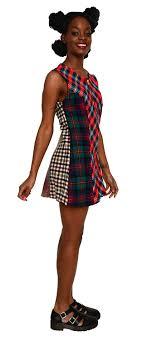 90s dress plaid wool jumper top mini dress 90s grunge antique boutique new