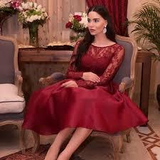online get cheap a line cocktail burgundy scoop dress aliexpress