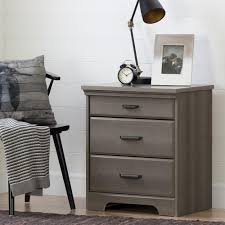 south shore versa 2 drawer nightstand in gray maple 10556 the