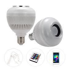 bluetooth music light bulb wireless bluetooth music led bulb audio speaker 6w e27 speaker 12w