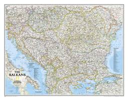 wall maps ngs balkans reference wall map