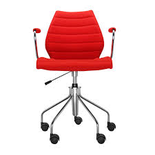 maui soft office chair with armrests kartell ambientedirect com
