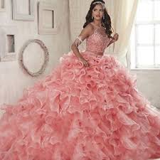 quinceanera dresses coral coral 2 quinceanera dresses scoop ruffles organza gown