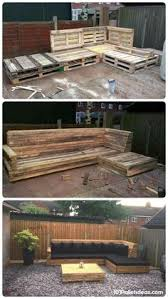 Pallet Patio Ideas Beautiful Pallet L Formed Couch For Patio Sofa A Hundred And