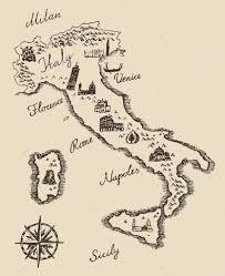 Italian Map Old Italian Map U2014 Stock Vector Grop 72756177