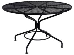 Woodard Landgrave Patio Furniture - woodard mesh wrought iron 48 round table with umbrella hole in