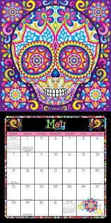 sugar skulls 2017 wall calendar thaneeya mcardle 0050837354104