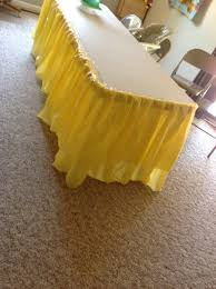 how to make a ruffle skirt from cheap plastic table cloths for