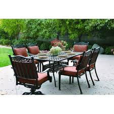 Hampton Bay Patio Dining Set - outdoor u0026 garden maracay 7 pc outdoor patio dining set with