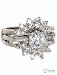 wedding ring jackets solitaire engagement ring with baguette shoulders and