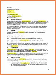 6 employment agreement template australia purchase agreement group