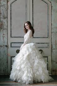 wedding dresses fluffy ridiculously stunning sleeved wedding dresses