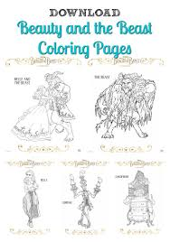 free beauty beast coloring pages download print