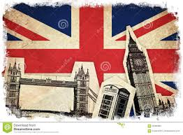 Country Flags England Flag Of United Kingdom With Monuments Stock Illustration