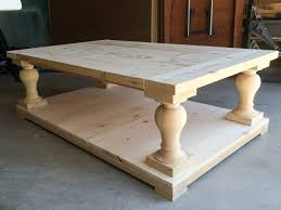 coffee table baluster coffee table intended for best balustrade