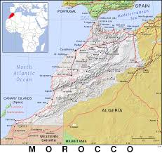 Morocco On World Map by Ma Morocco Public Domain Maps By Pat The Free Open Source