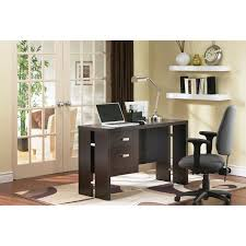 Modern Computer Desk by Element Contemporary Computer Desk Chocolate Brown Desks