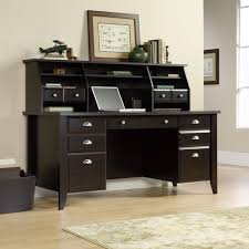 sauder desk with hutch 408750 408920 shoal creek jamocha wood office desk hutch set