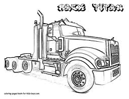 free printable semi truck coloring pages monster page kids fire