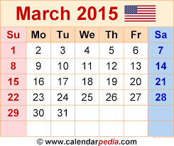march 2015 calendars for word excel pdf