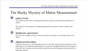 the murky mystery of matter measurement chemical education xchange