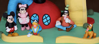 mickey mouse clubhouse cake and mickey cake pops