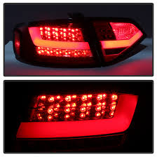 audi a4 tail lights 09 12 audi a4 s4 performance led tail lights red clear