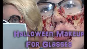 halloween makeup for people with glasses youtube