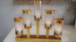 Dollar Tree Vases Centerpieces Centerpiece Diy 5 Light Candle Holder Using Dollar Tree Vases