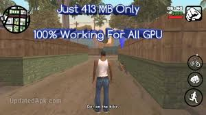 get link apk 413mb gta san andreas highly compressed apk data all gpu