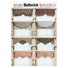 butterick reversible window valance pattern b5582 size osz