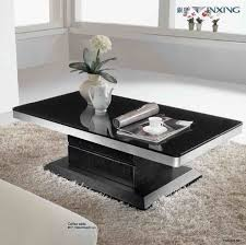 coffee tables astonishing black and silver rectangle glass