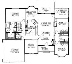 houseplans com country farmhouse main floor plan 17 2400 traditional style house plan 3 beds 2 00 baths 2200 sqft sq ft plans with bonus