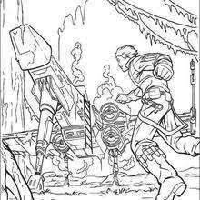 coloring page star wars millenium falcon coloring pages hellokids com