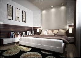 apartment romantic bedroom with lower bed frame with white