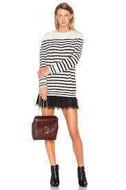 red valentino striped sweater dress ivory u0026 navy women w rval