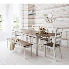 canterbury dining table with 5 chairs bench u0026 extensions noa u0026 nani